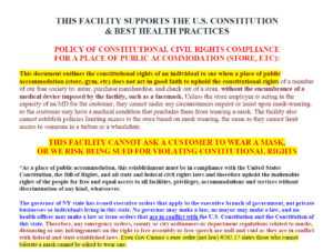 Policy Of Constitutional Civil Rights Compliance Store