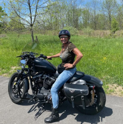 Kathy Loves Riding Her Motorcycle