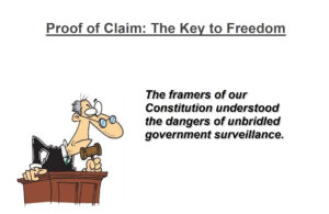 Proof of Claim… The Key to Freedom