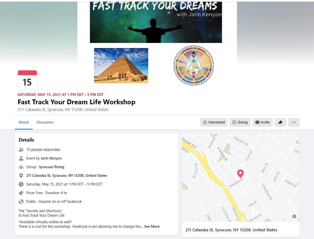 Fast Track Your Dream Life Workshop Jarin Kenyon