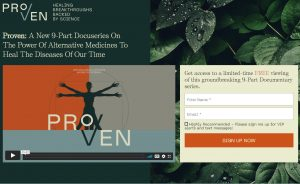Attend Free Proven: A New 9-Part Docuseries On The Power Of Alternative Medicines To Heal The Diseases Of Our Time